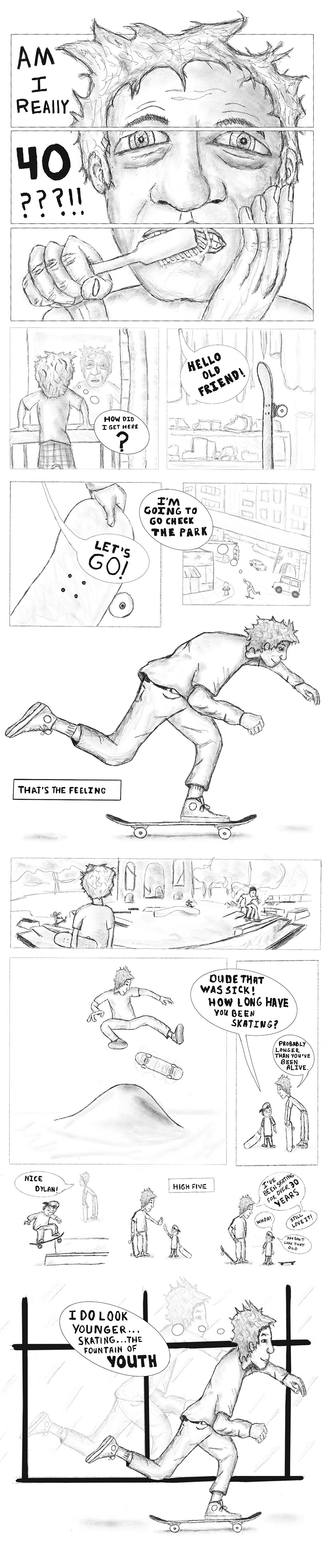the 40 yr old skater comic