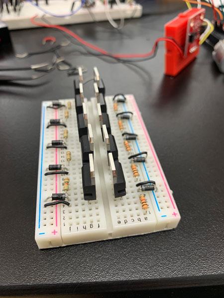 transistor array for 10 motors
