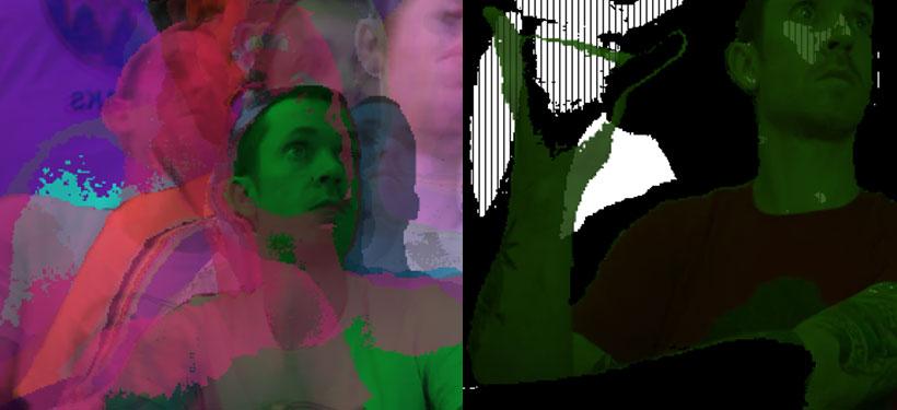glitch portrait
