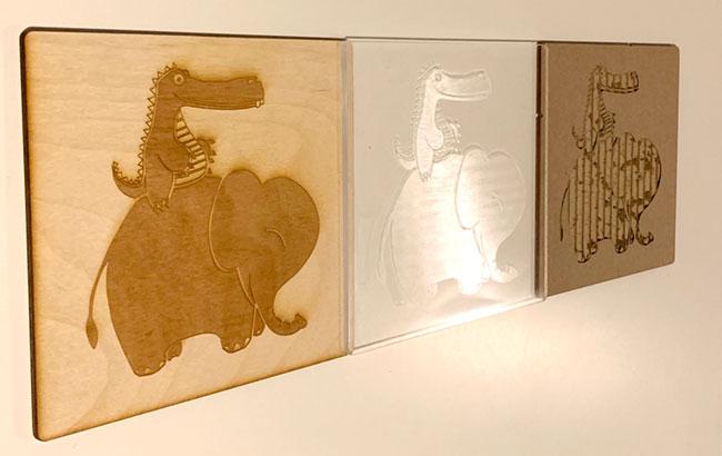 3 etching prototypes