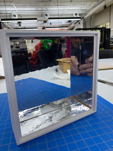 mirrored box
