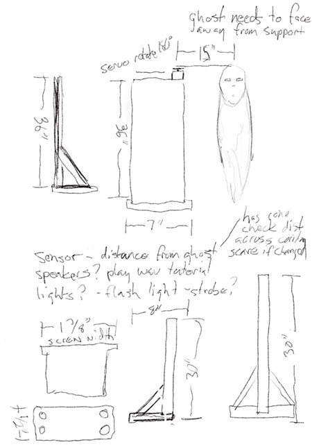 ghost stand sketches and measurements