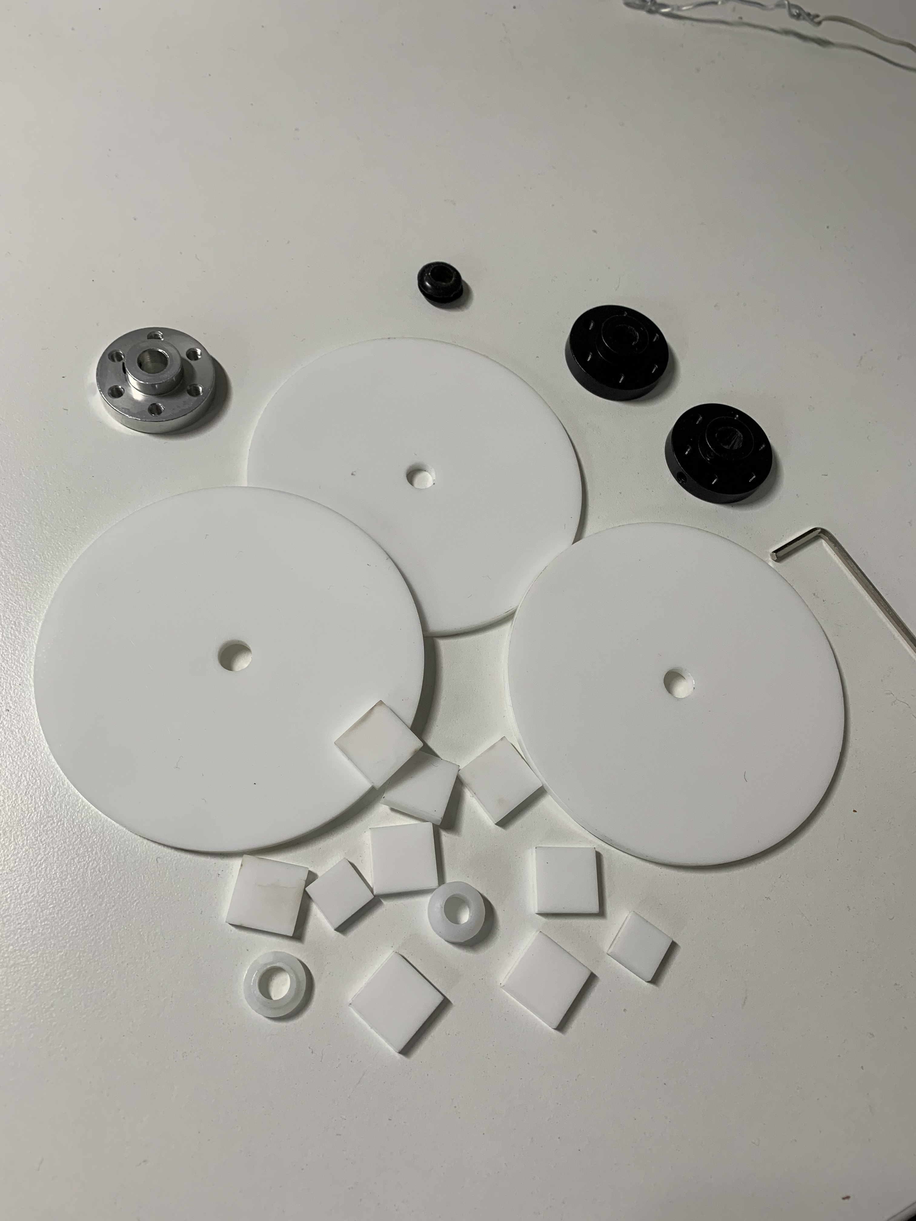 laser cut discs and tabs