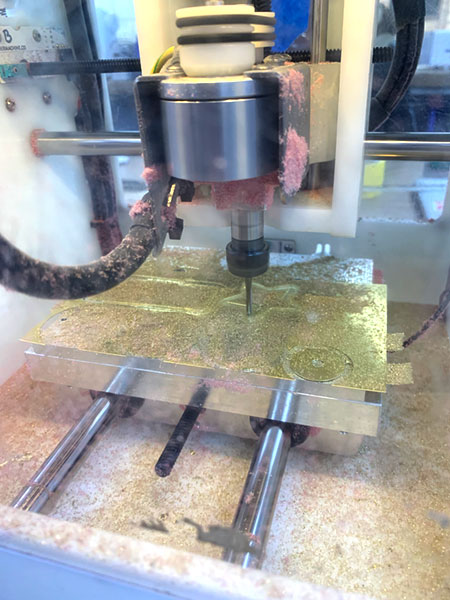 cutting shapes in brass with Othermill